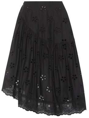 Simone Rocha Cotton eyelet skirt