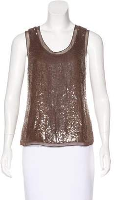 Derek Lam Silk Sequined Top