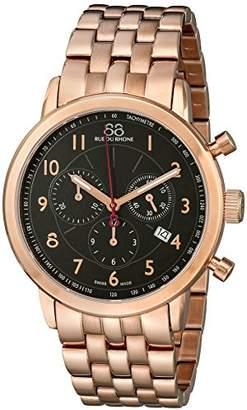 88 Rue du Rhone Men's 87WA120049 Analog Display Swiss Quartz Rose Gold Watch