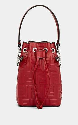 Fendi Women's Mon Tresor Mini Leather Bucket Bag - Red