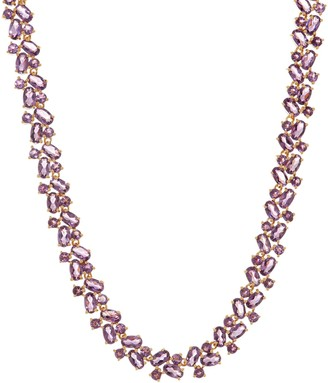 Mixed Shape Gemstone Tennis Necklace, Sterling Silver