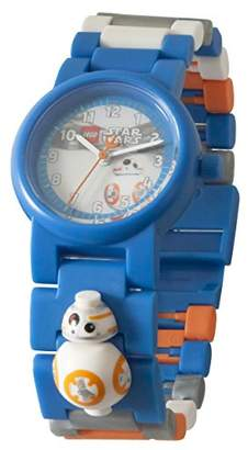 Lego Star Wars 8020929 BB-8 Kids Minifigure Link Buildable Watch | Blue/Orange| Plastic | 25mm case Diameter| Analogue Quartz | boy Girl | Official