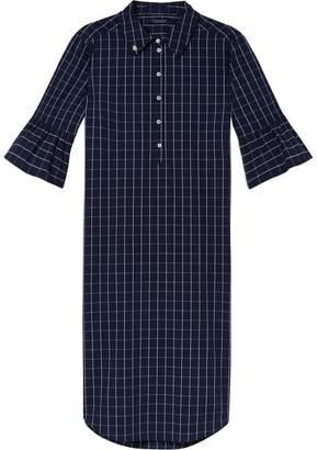 Scotch & Soda Ruffle Sleeve Shirt Dress