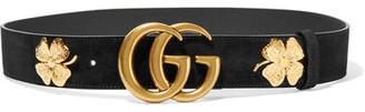 Gucci - Embellished Suede Belt - Black $550 thestylecure.com