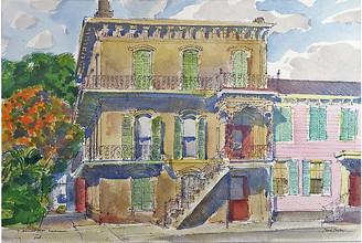 One Kings Lane Vintage Savannah Georgia by Paul Parker - Artifax Antiques Art