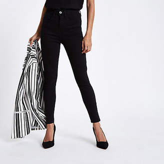 River Island Petite black Harper high waisted skinny jeans