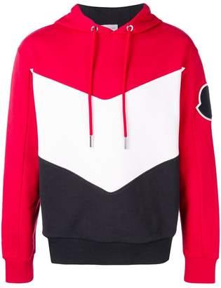 Moncler colour block hoodie