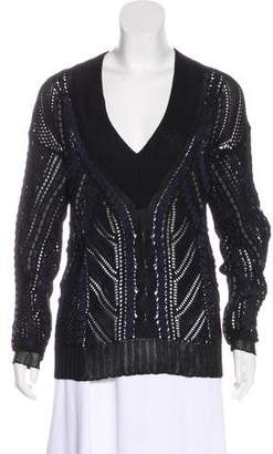 Rag & Bone Knit V-Neck Sweater w/ Tags