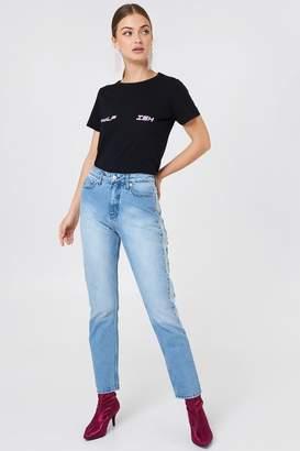 NA-KD Na Kd Two Tone Side Panel Jeans