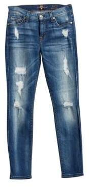 7 For All Mankind (セブン フォー オール マンカインド) - 7 For All Mankind Ankle Skinny Distressed Jeans