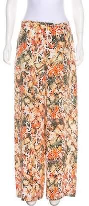 Saloni Silk Wide-Leg Pants