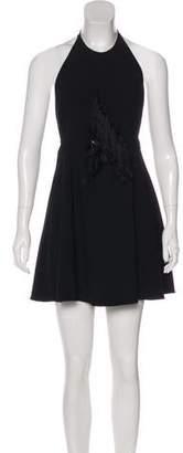 Thakoon Tassel-Accent Halter Dress