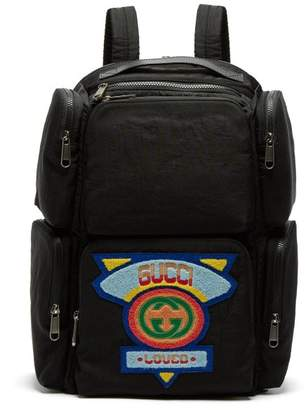 26e0040717c Gucci Loved Logo Applique Shell Backpack - Mens - Black