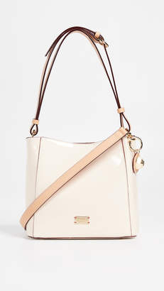 Frances Valentine Soft Patent Small Hobo Bag