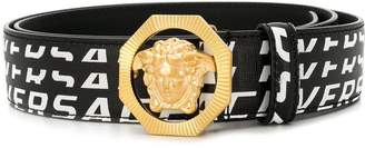 Versace Logo print medusa belt