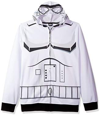 Star Wars Men's Storm Trooper Character Zip Front Hoodie