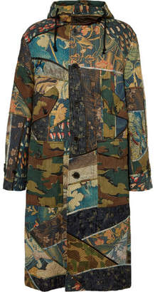 Dries Van Noten Oversized Patchwork Cotton And Linen-Blend Hooded Parka