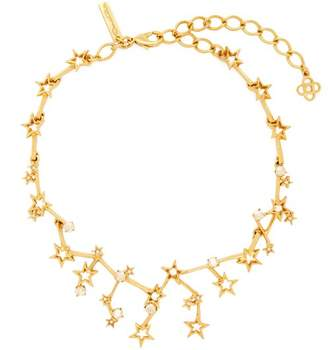 Oscar de la Renta Constellation Crystal Embellished Necklace - Womens - Gold