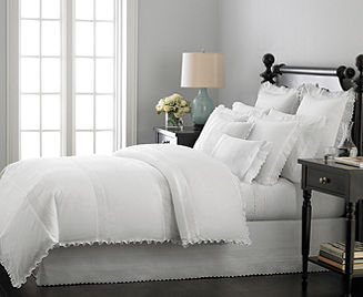 Martha Stewart Collection Bedding, Pintuck Eyelet Duvet Cover Sets