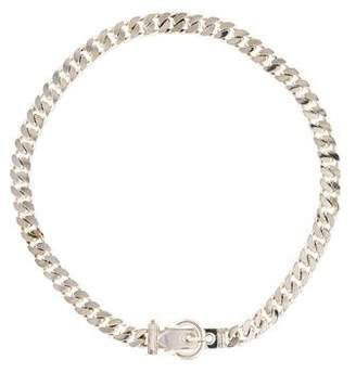Hermes Curb Chain & Buckle Necklace