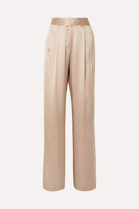 Off-White Michelle Mason - Wide-leg Silk-charmeuse Pants