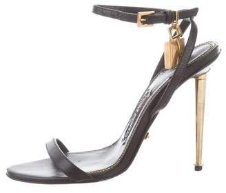 feef8728846 Pre-Owned at TheRealReal · Tom Ford Lock Leather Sandals