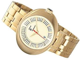 Replay Gents Grey Dial Gold Plated Bracelet Watch