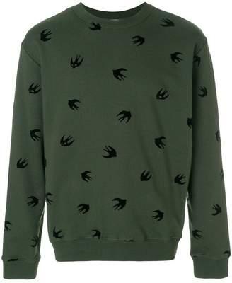 McQ swallow embellished sweatshirt