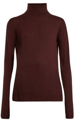Raey Roll Neck Fine Knit Cashmere Sweater - Womens - Burgundy