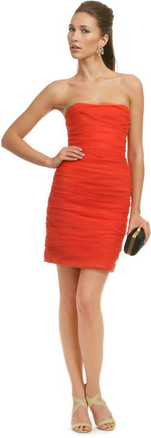 Christian Siriano On Fire Dress