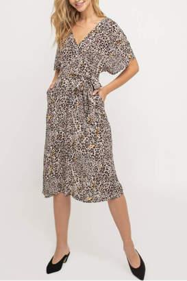 Lush Clothing Leopard Midi Dress