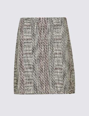 M&S Collection Cotton Blend Textured A-Line Mini Skirt