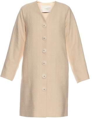 ADAM by Adam Lippes Single Breasted Cotton Coat - Womens - Beige