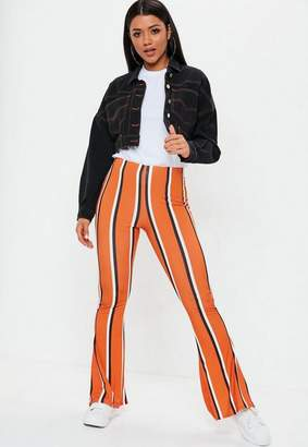 Missguided Stripe Flare Trousers