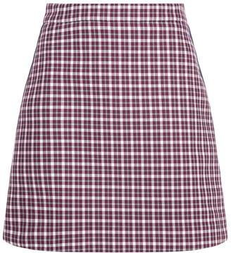 Burberry Stripe Check Mini Skirt