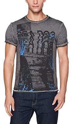 Buffalo David Bitton Men's Tisem Short Sleeve Crewneck Graphic Fashion T-Shirt