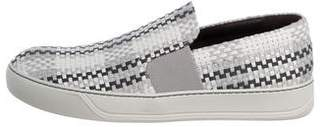 Lanvin Woven Leather Sneakers w/ Tags