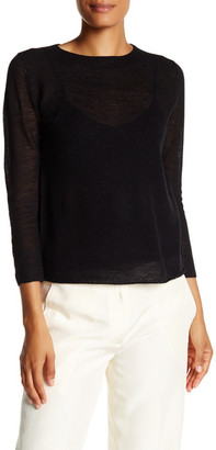 Helmut Lang 3/4 Length Sleeve Cashmere Pullover $380 thestylecure.com