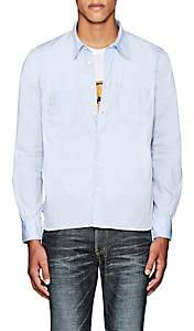 Visvim Men's Embroidered Cotton Shirt - Lt. Blue