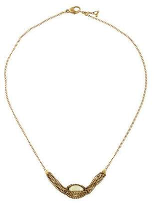14K Multistone Caged Necklace