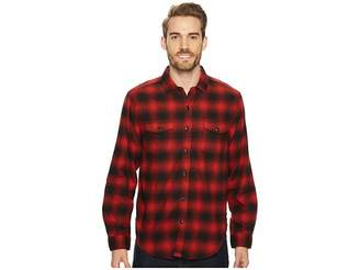 True Grit Redford Plaid Long Sleeve Two-Pocket Shirt with Chambray and Stitch Detail Men's Clothing