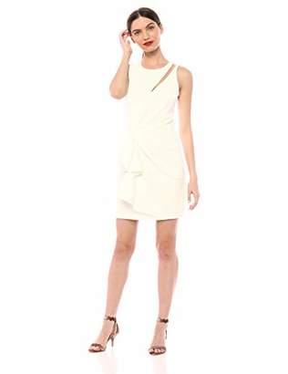 410ddf4b509fd0 Parker Women s Adair Shoulder Cut Out Drapped Front Cocktail Dress