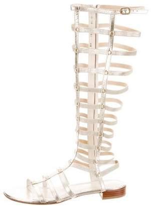 Stuart Weitzman Knee-Length Gladiator Sandals