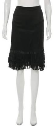 Blumarine Silk Knee-Length Skirt Black Silk Knee-Length Skirt