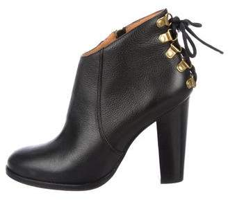Steven Alan Leather Lace-Up Ankle Boots
