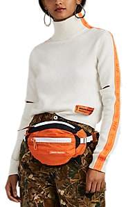 Heron Preston Women's Striped Wool-Blend Crop Turtleneck Sweater - White