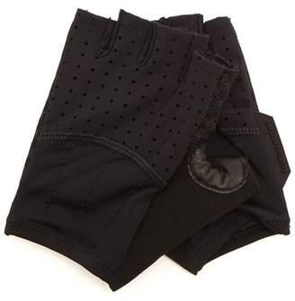 Café Du Cycliste Cafe Du Cycliste - Leather Panelled Cycling Gloves - Mens - Black