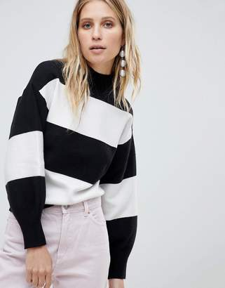 MANGO Bold Stripe Sweater
