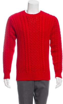 Sies Marjan Cable Knit Crew Neck Sweater