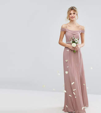 TFNC Tall Cold Shoulder Embellished Maxi Bridesmaid Dress